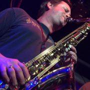 Mike Scott on sax